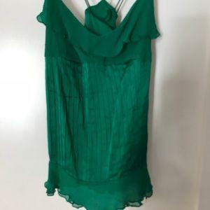 Diane Von Furstenberg Emerald Green Silk Camisole